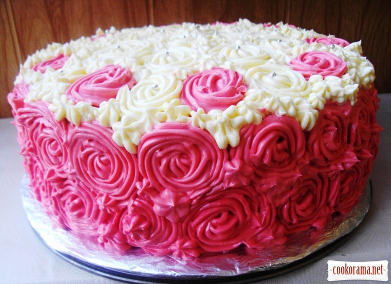 Как украсить торт из безешек