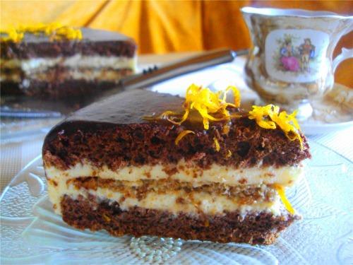 """Апельсиново-шоколадный торт """"Автомобилистам"""""""