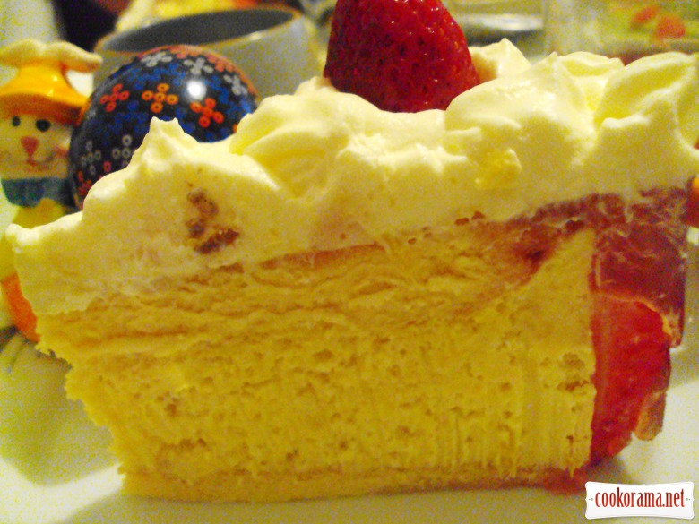 """Полунично-манговий торт """"Екзотик"""""""