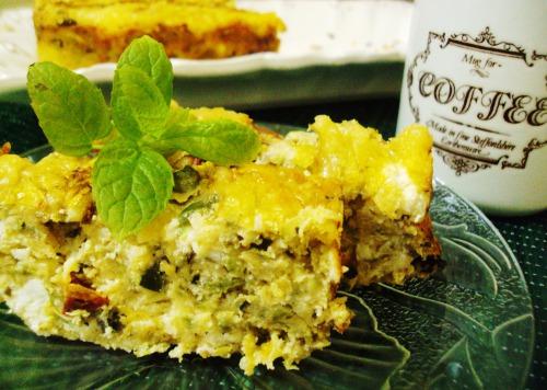 Кекс-запіканка з сиром і кабачками