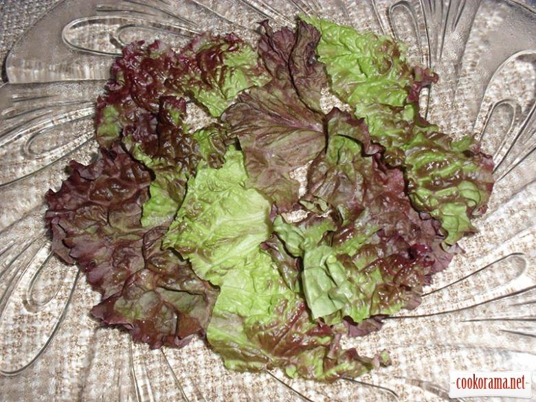 Теплый персиковый салат на конкурс
