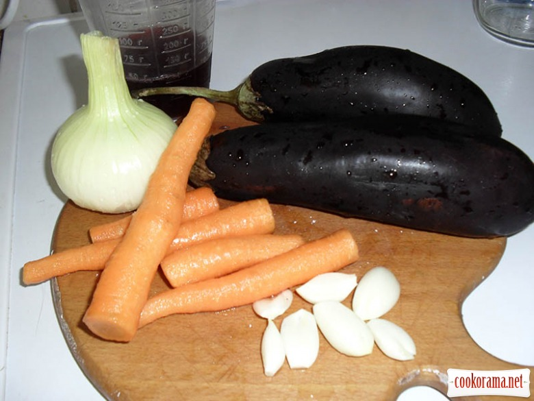 Eggplants in port wine and currant juice