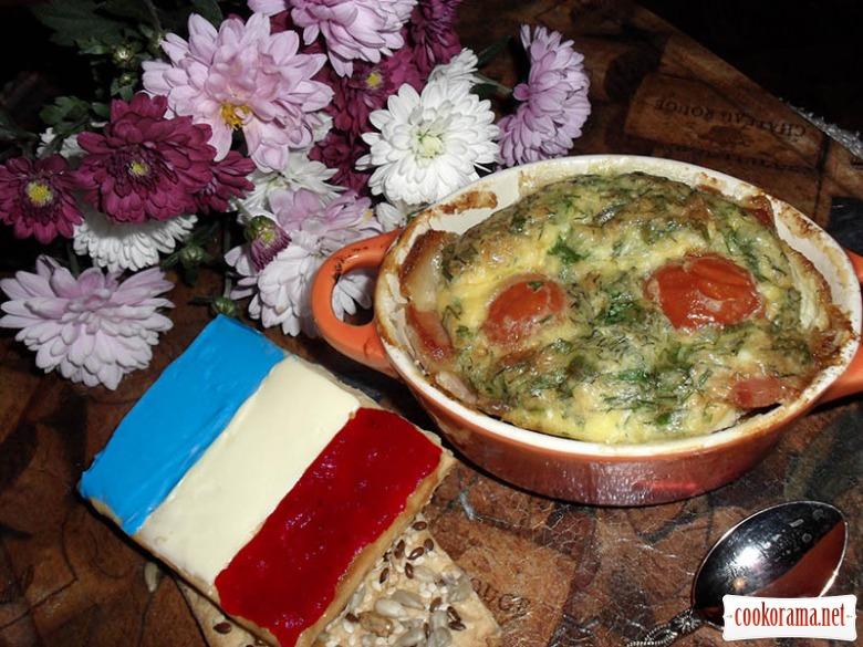 Яйця в кокотницах (oeufs en cocotte)