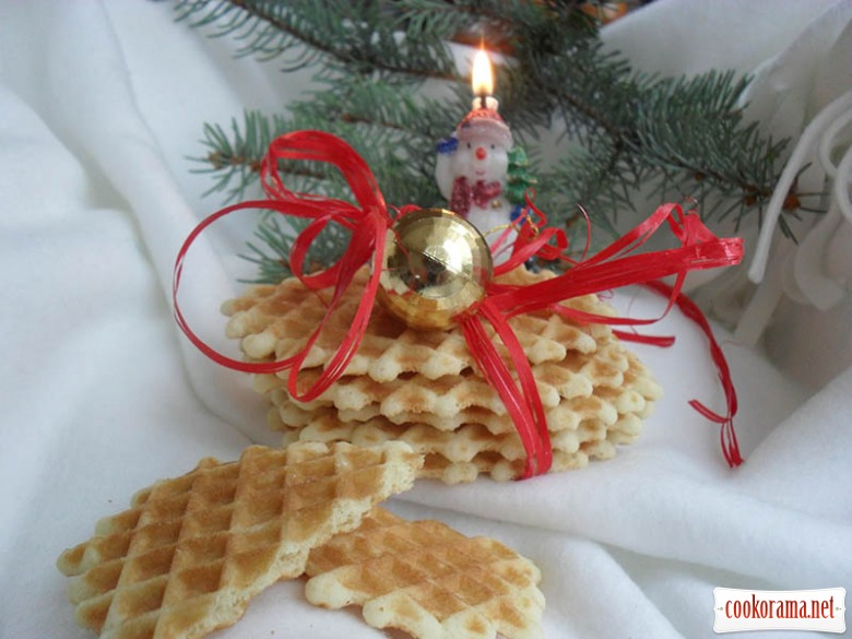 Рождественские вафли