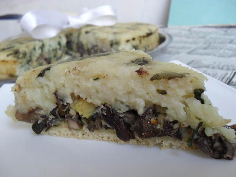 Картофельно-рисовый пирог-перевертышь