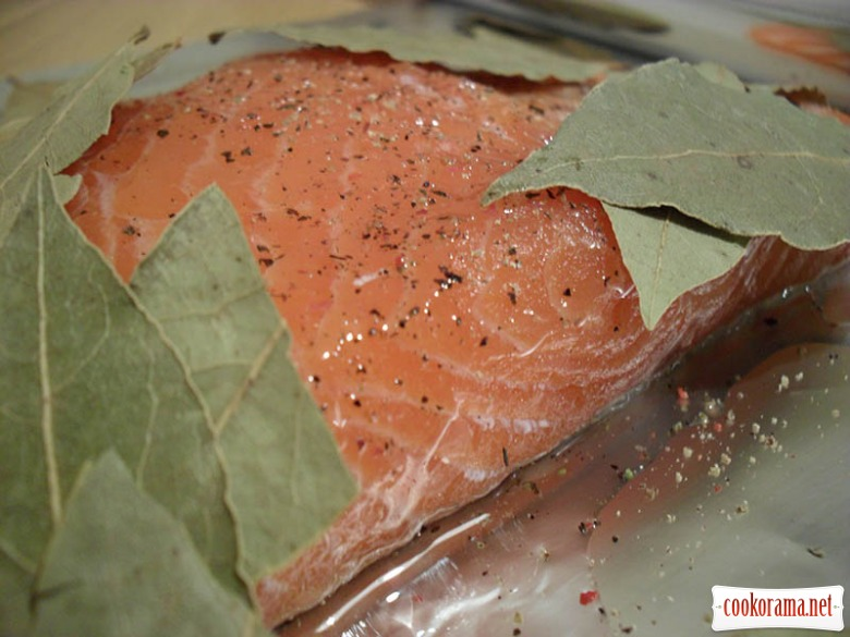 Salmon of special salting