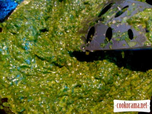 Паста со шпинатным соусом