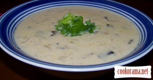 Грибной крем-суп с сыром