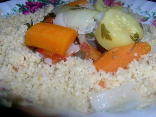 Кус-кус с овощным бульоном