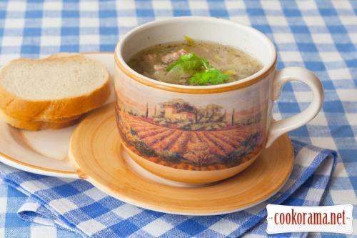 Суп из порея по-немецки