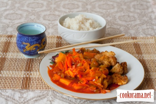 Pork in a sweet-sour sauce