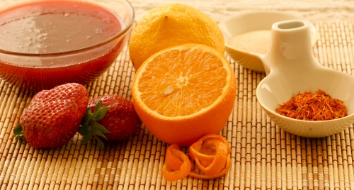 Желе клубнично-лимонное