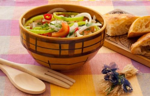 Salad almost shopsky