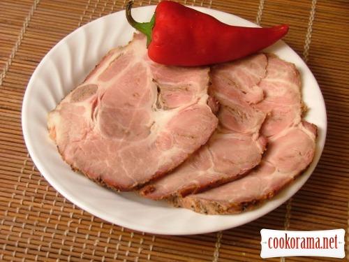 Свиная шейка на вертеле 2  (с яблочным соком)