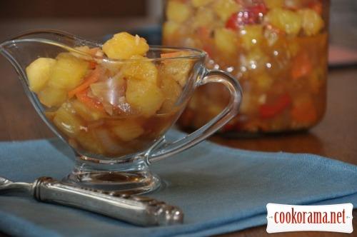 Соус с ананасами и имбирем