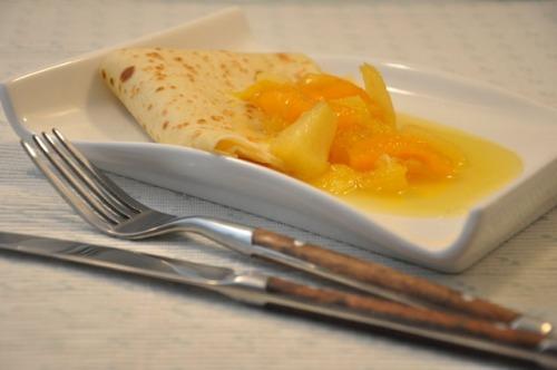 Млинці з фруктовим соусом