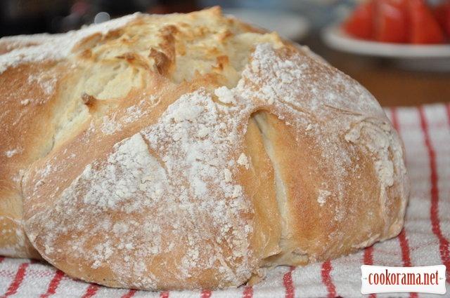 Хлеб на кефире с медом и оливковым маслом