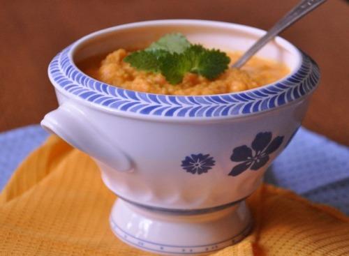 Морквяний суп з імбиром