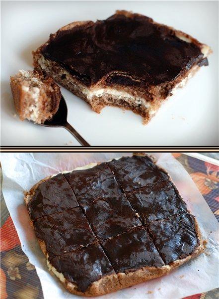 Брауні з сирною начинкою і шоколадною помадкою