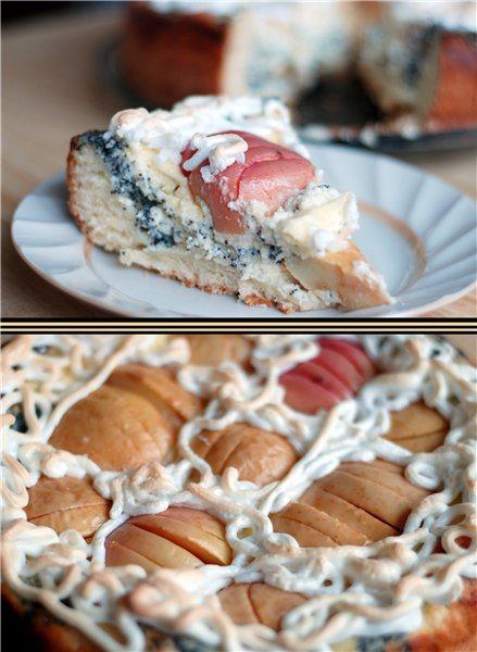 Сирно-маковий пиріг з яблуками