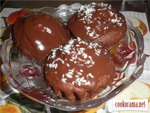 Шоколадно-банановые маффины