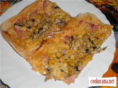 Тонкая основа для пиццы