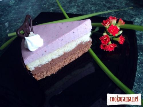 Торт «Тримирье» с черносмородиновым баваруа