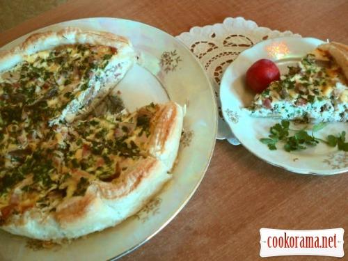 Пиріг з начинкою з фазана по-мисливські