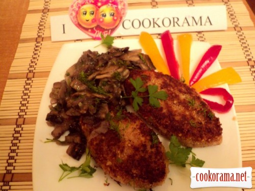 Bean cutlets with mushrooms
