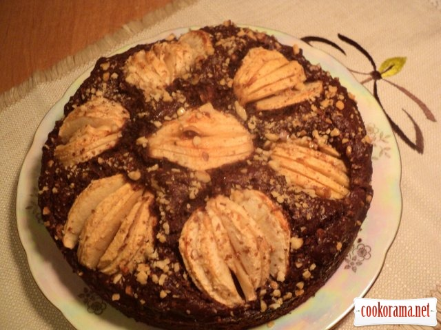 Pie «Apples in chocolate»