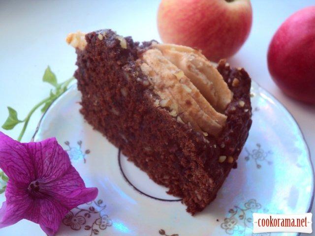 Пирог « Яблоки в шоколаде»