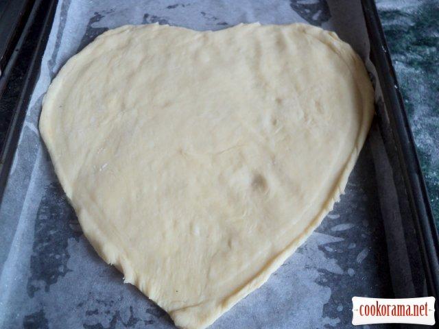 Пирог «Ягодное сердце»