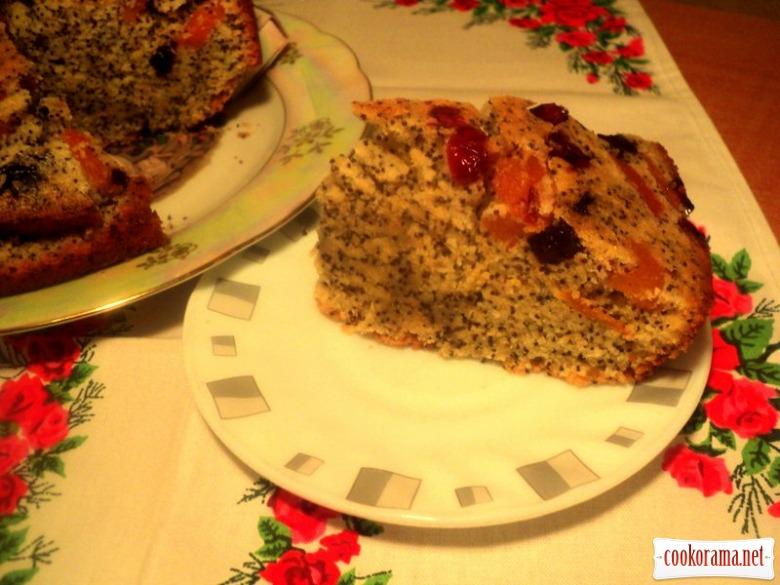Кукурузный пирог с маком