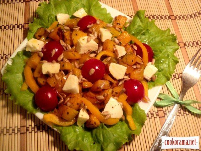 Салат из тыквы с моцареллой