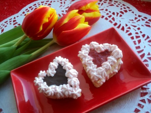 Пирожное «Сердечки»