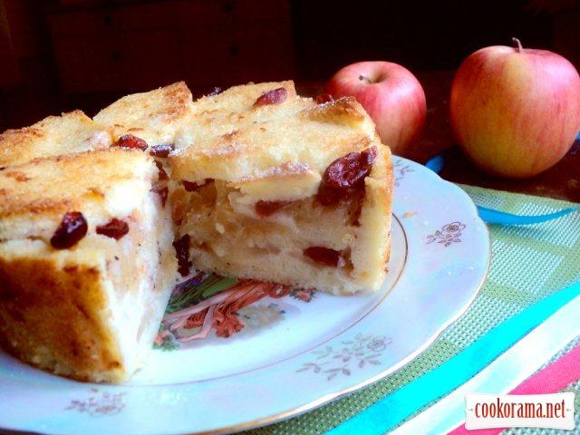 Шарлотка с яблоками