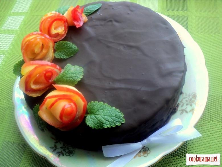 Постный шоколадный торт «Именинный»
