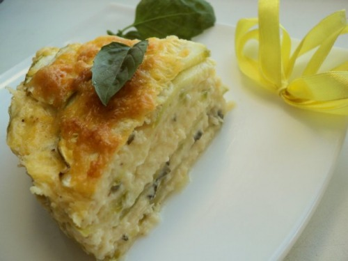 Vegetarian lasagna with courgette