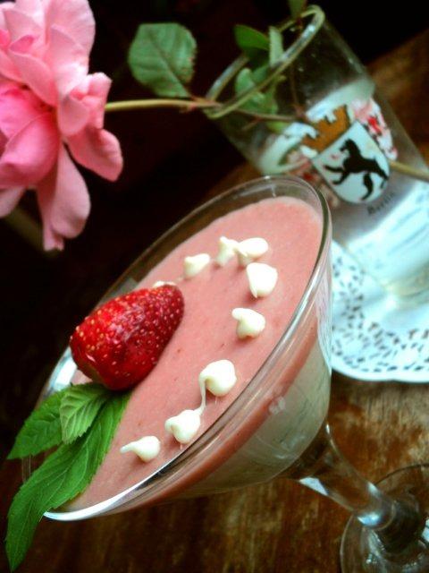 Сливочно-ягодное суфле