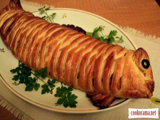 Пиріг з рибою «Золота рибка»