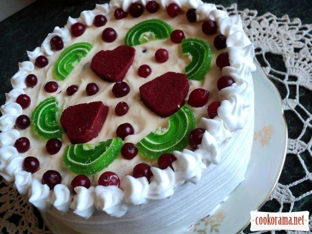 Торт «Зимова журавлина»