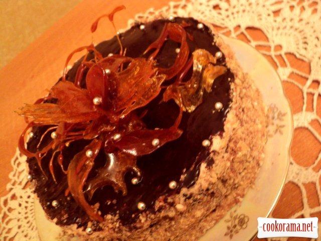 Торт «Бурштинова квітка»