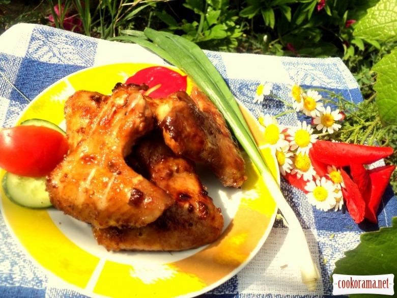 Крылышки-барбекю