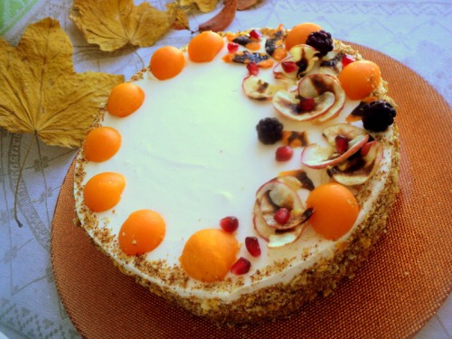 "Cake ""Autumn Blues"""