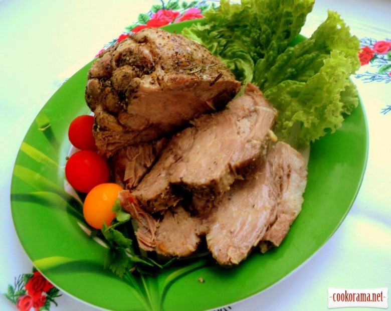 Boiled pork in multicooker