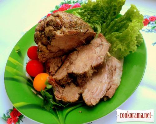 Boiled pork in multicooker