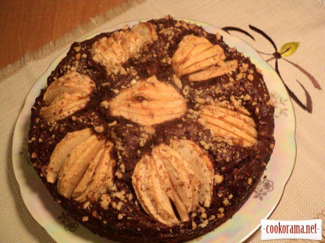 Пиріг «Яблука в шоколаді»