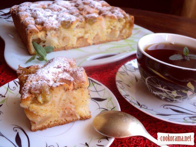 Яблучно-виноградний пиріг