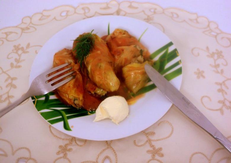 Голубці з картоплею і грибами