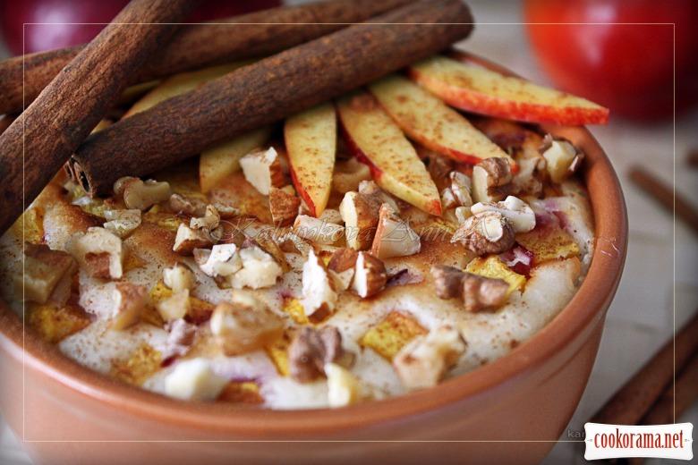 Нежный десерт из нектарина с йогуртово-творожным кремом
